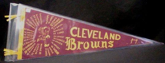 516: Rare 1946 Cleveland Browns Team Pennant