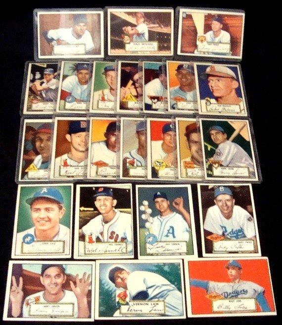 572: 1952 Topps Baseball Card Lot, 24 w Pafko