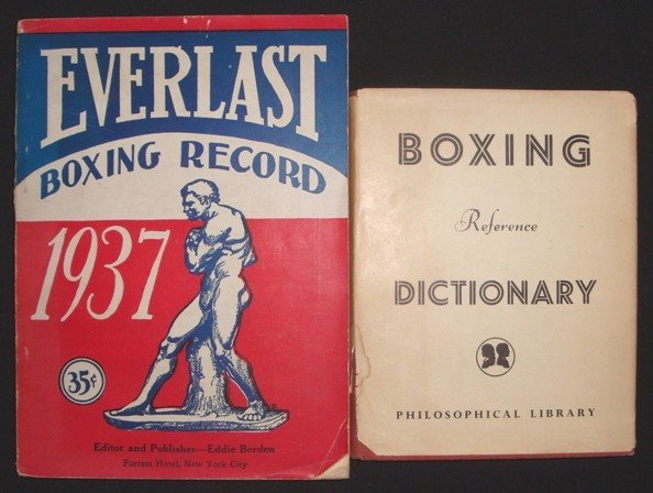 619: 1937 Everlast Boxing Record, Boxing Dictionary