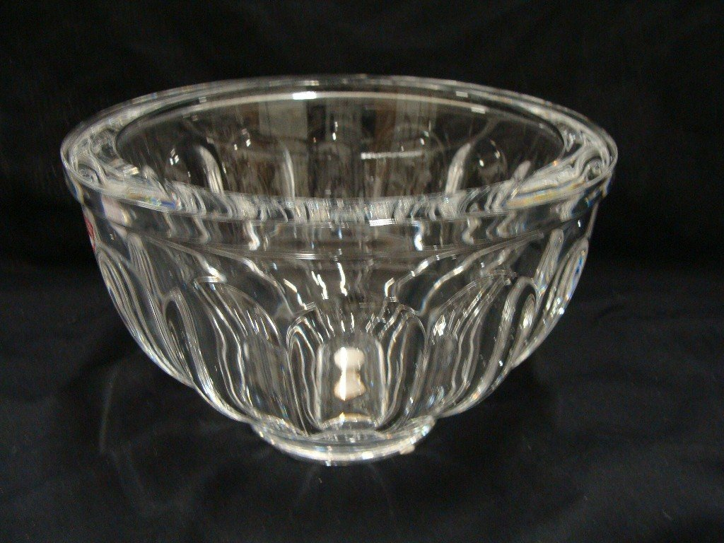 "16: Orrefors Crystal Bowl , 5"" Tall, 7 7/8"" across"