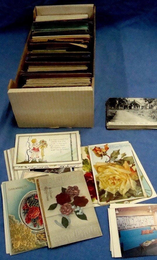 275: Lot of (700+) Early Mixed Topic Postcards