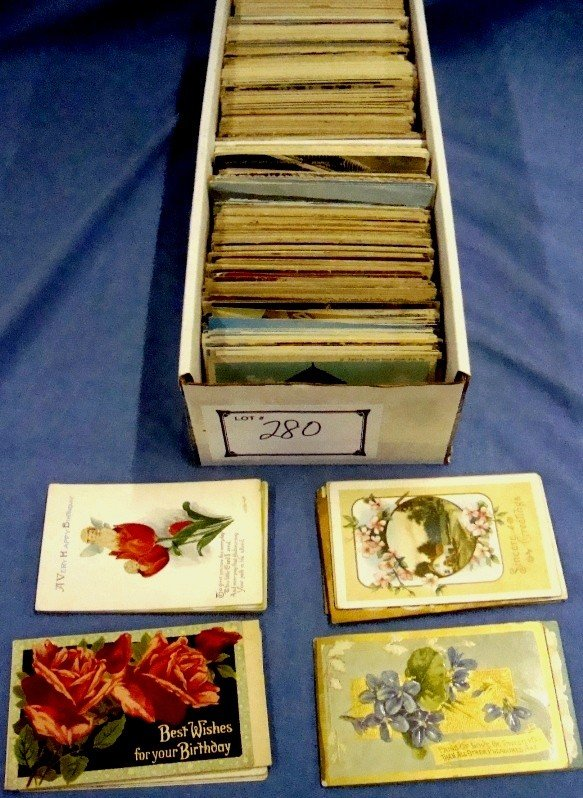 280: Lot of 1000+ Mixed Topic Early Postcards