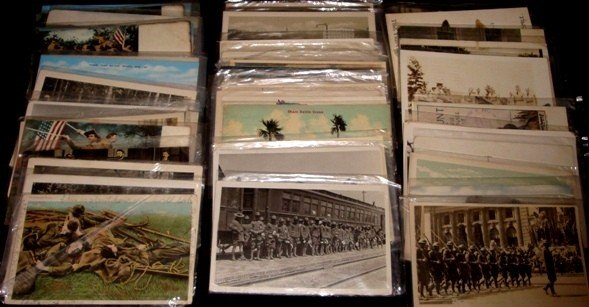 286: Lot of Early Military-Themed Postcards