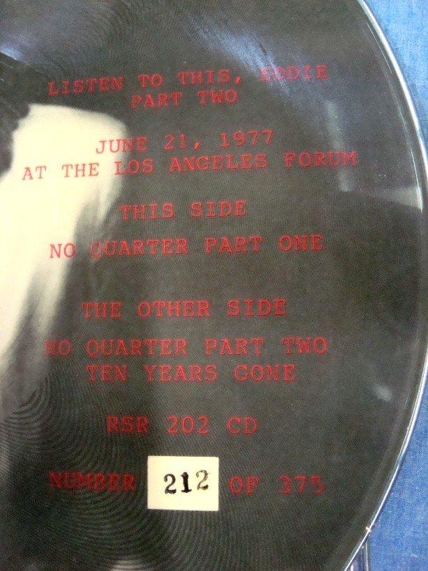 "289: Led Zeppelin RARE ""Listen to This Eddie"" Bootleg - 4"