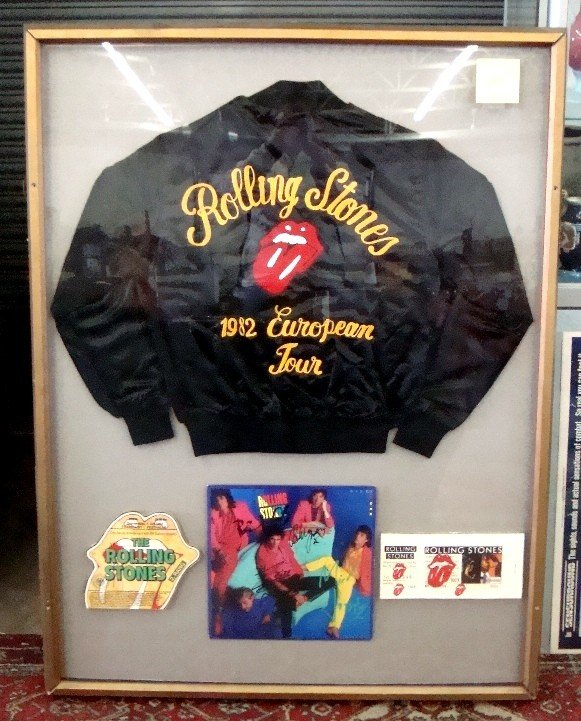 293: Rare Rolling Stones Signed 1982 Tour Piece