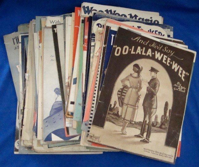 298: Early 1900's Lot of Sheet Music Military Theme