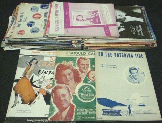 299: 1940's Celebrity/Entertainer Shet Music Lot