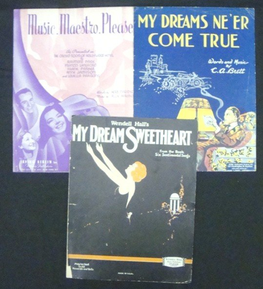 300: 1930's-40's Small Town Love & Dreams Sheets Music - 2