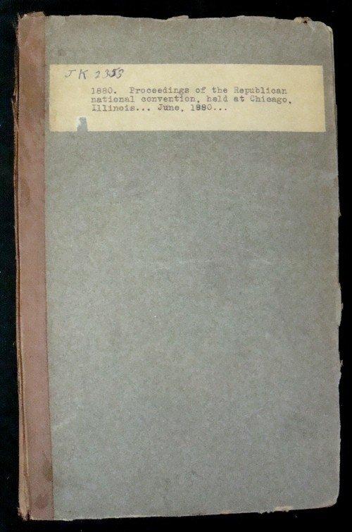 311: 1881 Proceedings of the 1880 Republican Natl Conve