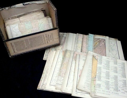 314: Lot of Early 20th C. Mostly Railway Maps