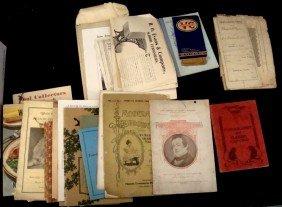 1840-Later Mixed Paper Ephemera Lot