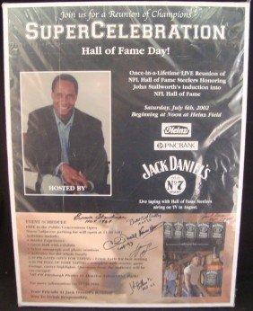 2002 NFL HOF Day Signed Stallworth Piece