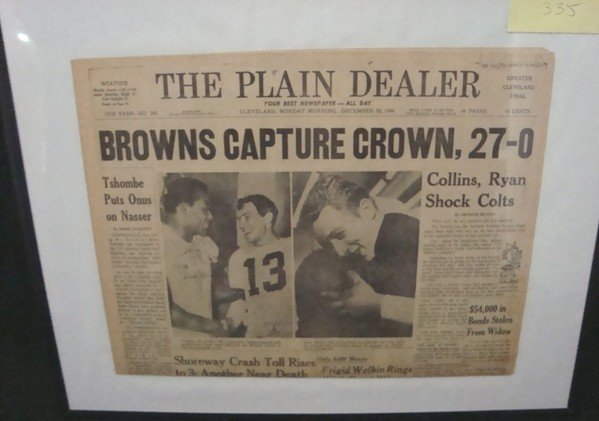 335: 1964 Cleveland Browns Champs Front Page