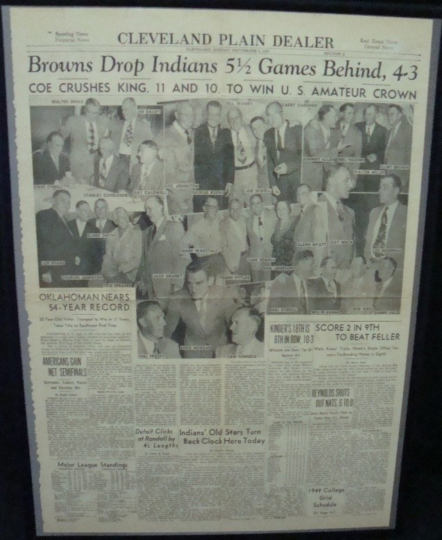 337: 1949 Browns Indians Rotogravure