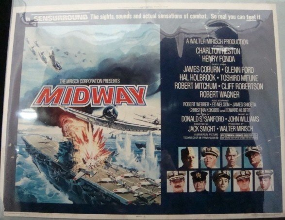 346: 1976 Midway Movie Lobby Poster