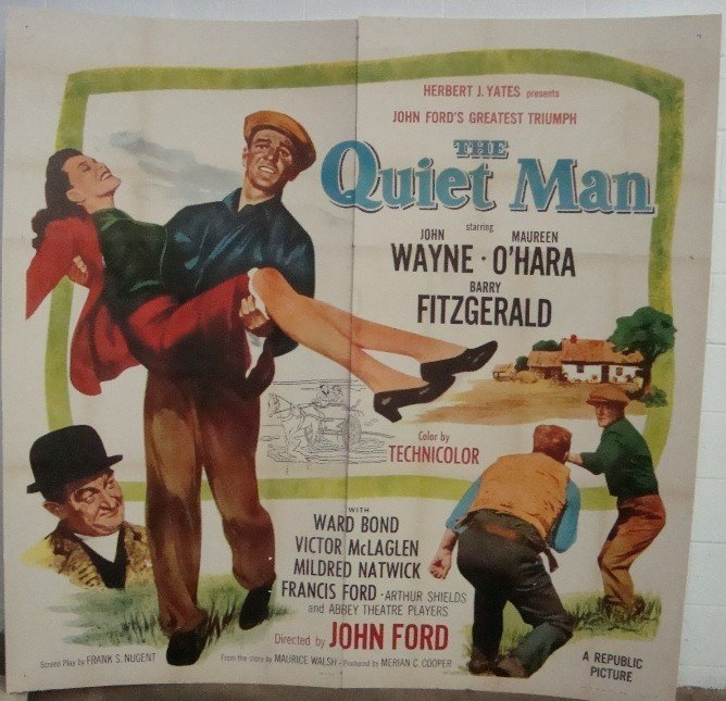 448: 1950's The Quiet Man 6-Sheet Movie Poster