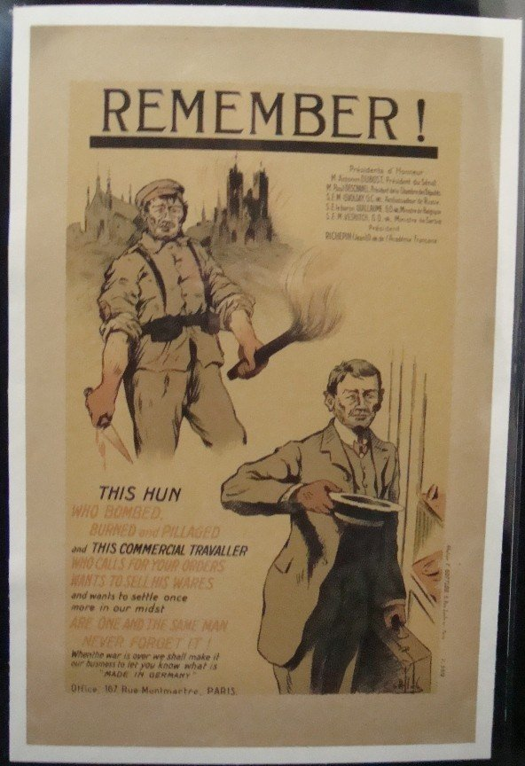 476: French WWI Poster 'Remember!', Gottlob