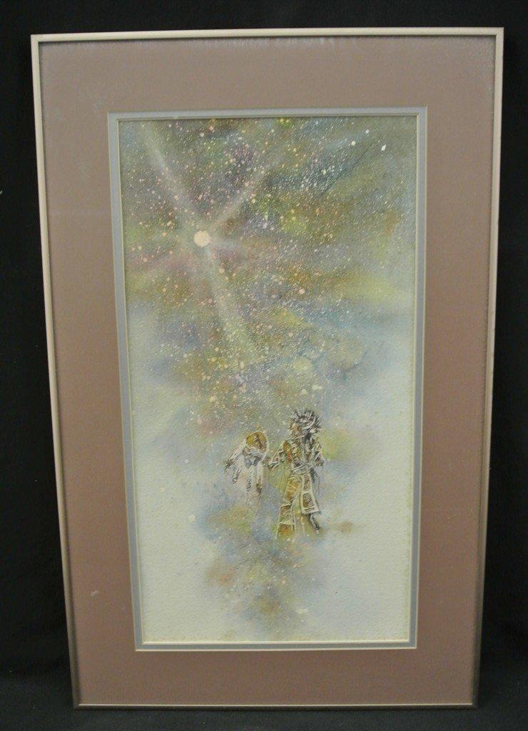 12: Original Watercolor Painting by Blackfeet Artist Ki