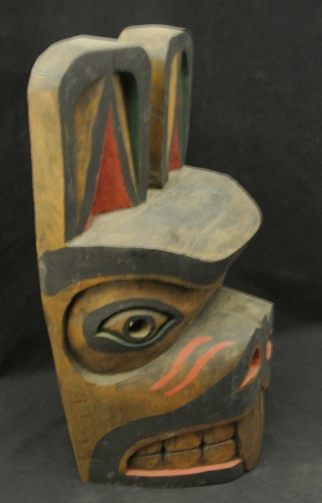 18: North West Coast Carved Beaver Mask by Cicero Augus