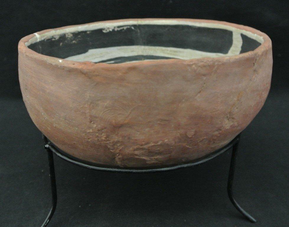 23: Prehistoric Salado Pottery Bowl with Interior Desig