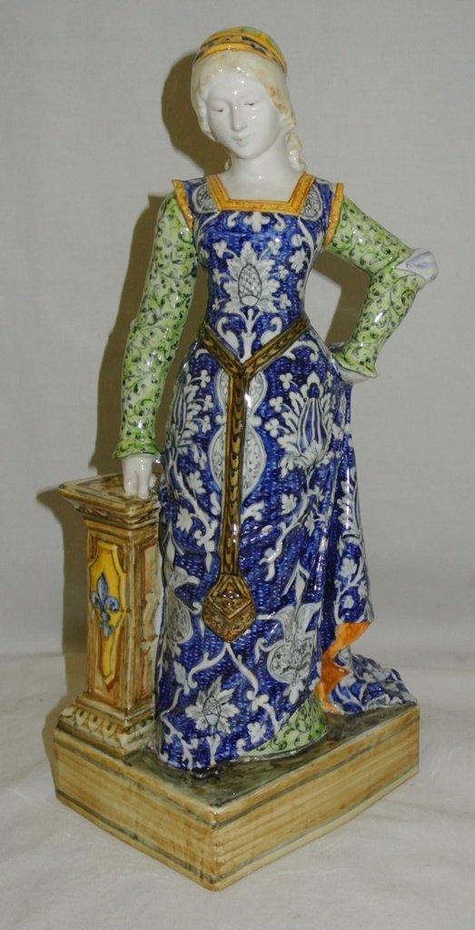 100: Tall Handpainted Porcelain Figurine