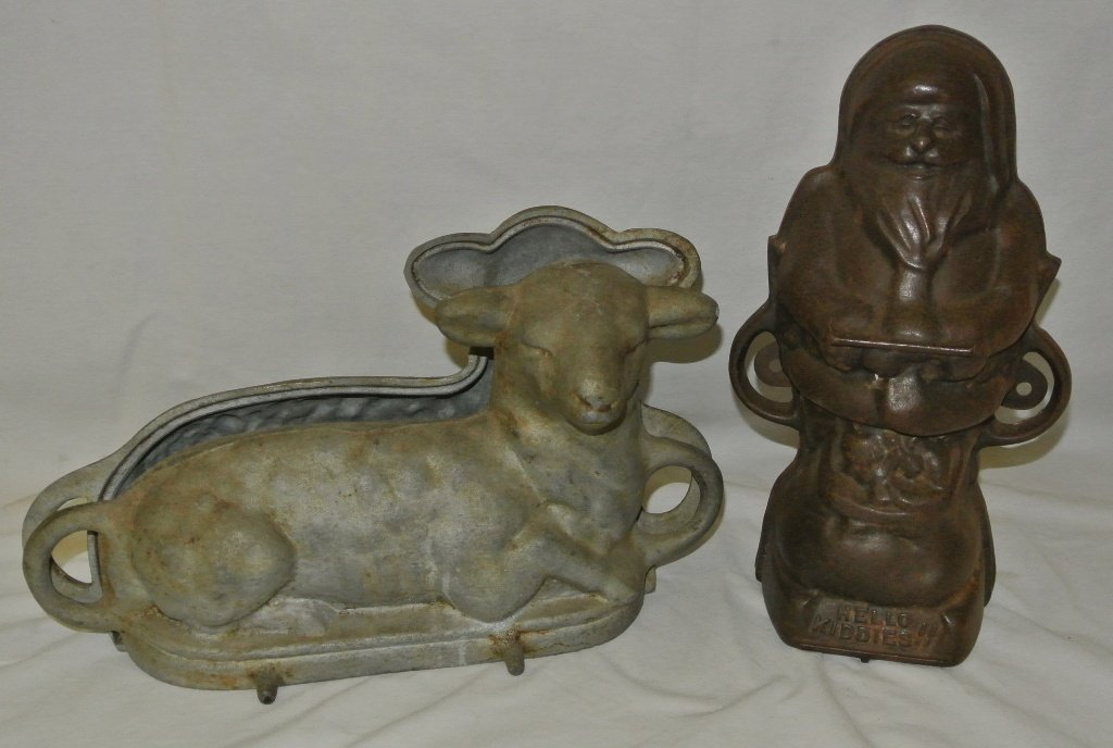 105: Grisowld Santa Claus and Lamb Cake Molds