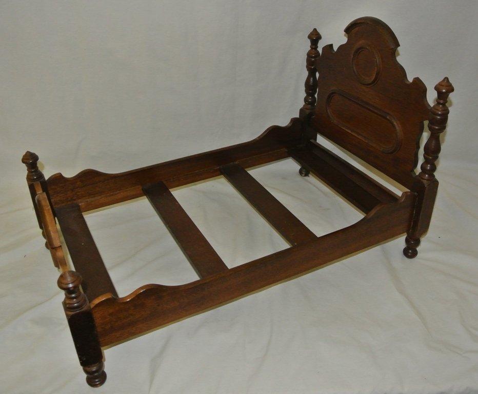 106: Victorian Walnut Salesman Sample Bed
