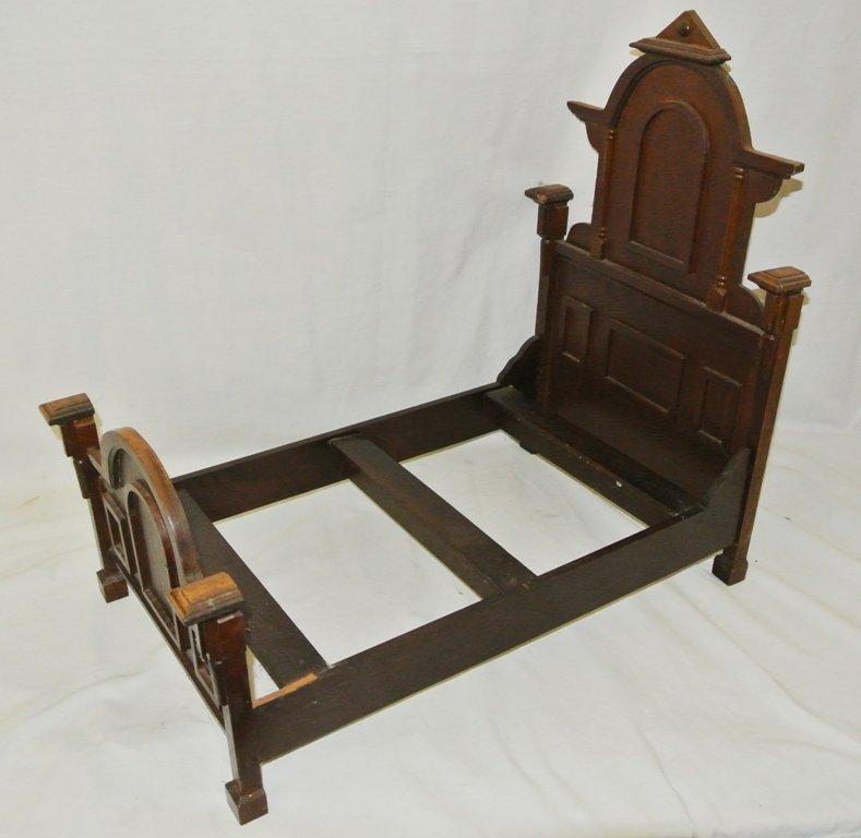 107: Victorian Walnut Salesman Sample Bed