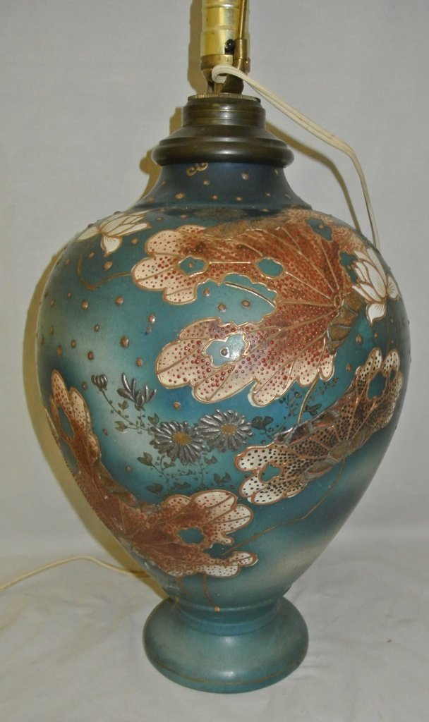 110: Enamel on Porcelain Chinoiserie Lamp