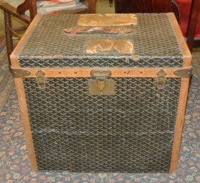Rare Antique Paris Goyard Steamer Trunk