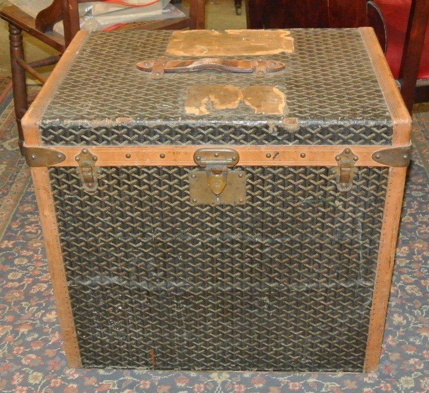 111: Rare Antique Paris Goyard Steamer Trunk
