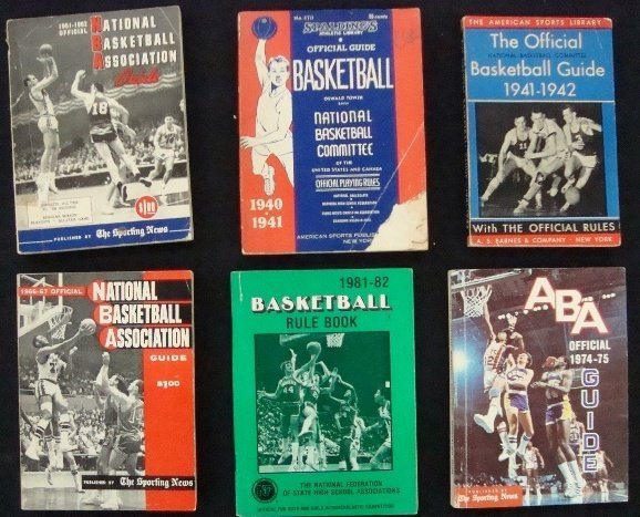 6: 1940-75 Spalding Sporting News Basketball Guides