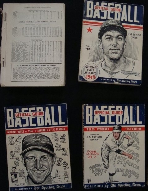 7: 1948-57 Official Baseball Guides, Good Cond