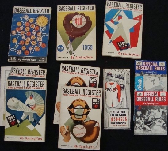 9: 1950's-60's Baseball Registers, (1) Signed, 70's-80'