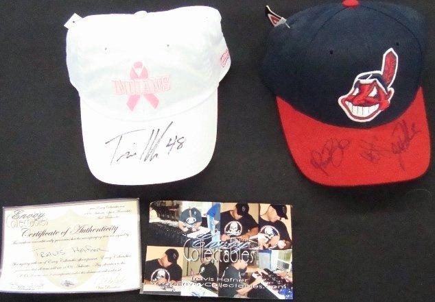 12: Cleveland Indians Signed Hat, Burba, Sabathia, Thom