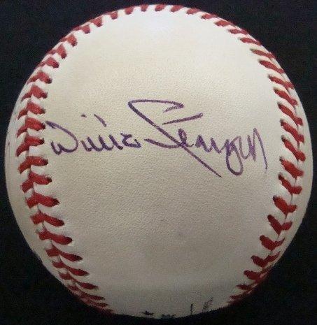 14: Autographed Rawlings Baseball, (4) All-Star Signatu