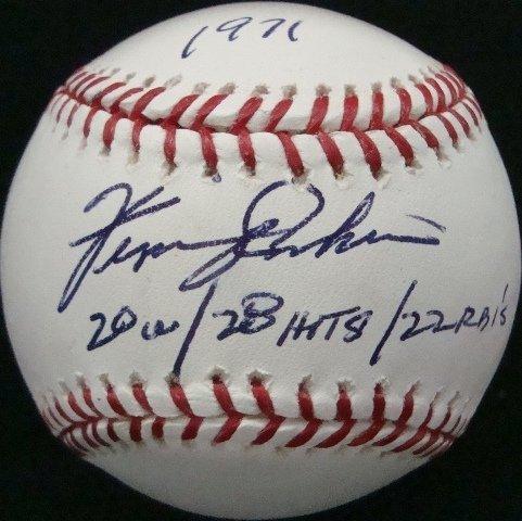 16: Fergie Jenkins Single Signed Stat Ball