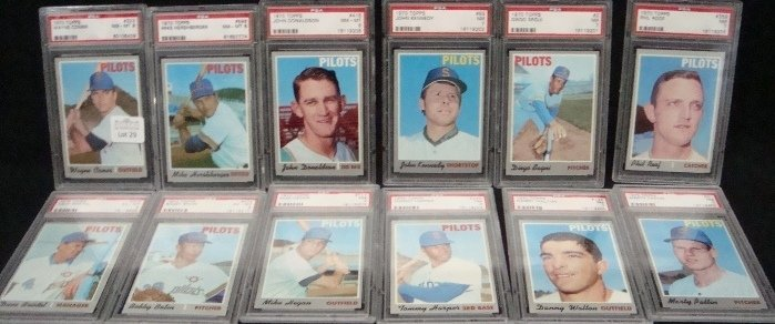 29: 1970 Topps Seattle Pilots Graded Cards. Mike Hegan,