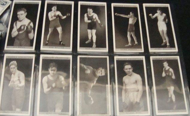 31: 1928 Ogden's Pugilists in Action Complete Set