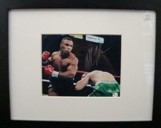 32: Mike Tyson Autographed 8x10 Framed Photo