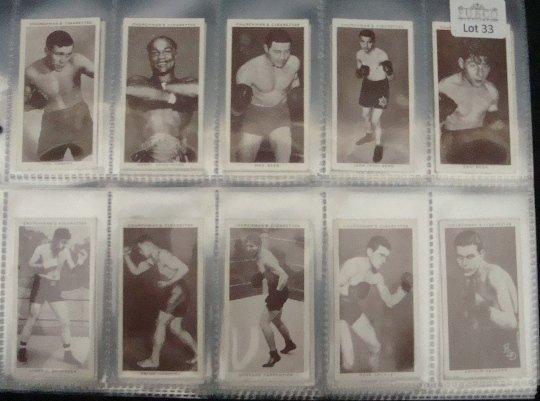 33: 1938 Churchman Boxing Complete Set