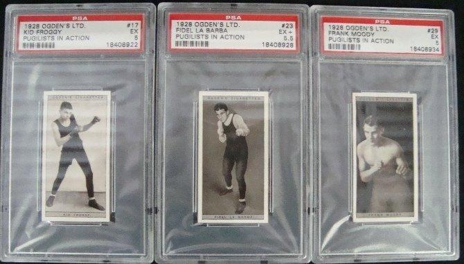 35: 1928 Ogden's Pugilists in Action Graded Cards (3)