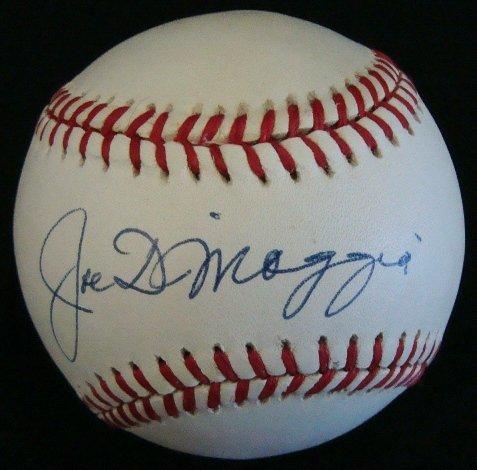 40: Joe DiMaggio Single Signed Baseball, JSA