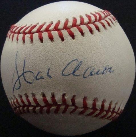 41: Hank Aaron Single Signed Baseball, JSA