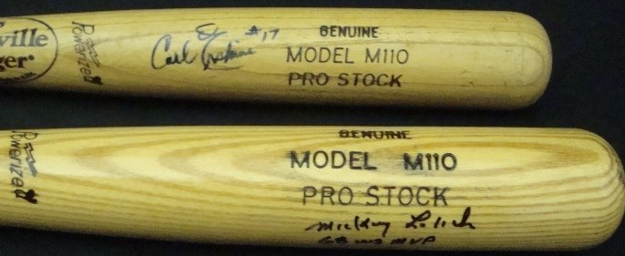 56: Mickey Lolich, Carl Erskine Autographed Bats, JSA