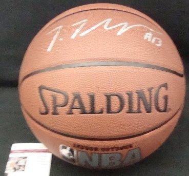 57: Tristan Thompson Autographed NBA Basketball, JSA