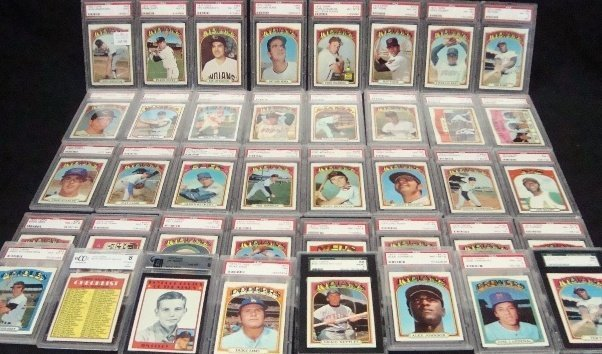 68: (40) 1972 Topps Graded Card Lot, G Perry PSA 7. Cha