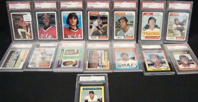 69: (16) 1974-1975 Cleveland Indians Graded, F Robinson