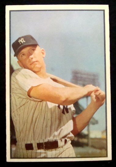 72: 1953 Bowman Color Mickey Mantle #59