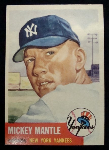 73: 1953 Topps #82 Mickey Mantle Card